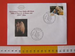 A.09 ITALIA ANNULLO - 2002 TRIVERO BIELLA PRESEPE VIVENTE DI BULLIANA LA NATIVITA' TEATRO POPOLARE PRESEPIO - Natale