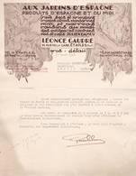 62  ETAPLES COURRIER 1947 Aux Jardins D' Espahgne  Fruits Primeurs Leonce GAUDRE  X29 Pas De Calais - France