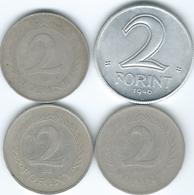 Hungary - 2 Forint - 1946 (KM533) 1952 (KM548) 1957 (KM556) & 1966 (KM556a) - Hongrie