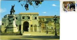 REPUBLICA DOMINICANA  SANTO DOMINGO  Catedral Santa Maria La Menor  Estatua De Colon Nice Stamp - Repubblica Dominicana