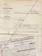 1885 Leval Trahegnies - Docteur Bernard De Binche + 2 Mandats Hospices Et Secours Indigent Hôpital Saint Jean - Documents Historiques