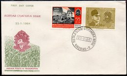 INDIA, 1964 CHANDRA BOSE FDC - Storia Postale