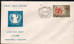 INDIA, 1960 UNICEF FDC - Covers & Documents