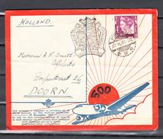 Nederlands Indie 1937,brief 500 Ste Vlucht Indie Holland,Medan 28 November 1937,(C399) - Nederlands-Indië
