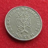 Brunei 20 Sen 1988 KM# 18 - Brunei