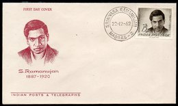 INDIA, 1962 S.RAMANUJAN FDC - Covers & Documents