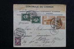 GRECE - Enveloppe Commerciale De Athènes Pour La France En 1937 Avec Contrôle, Affranchissement Plaisant - L 23127 - Grèce