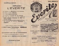 33 BASSENS La Plains St Denis  PUBLICITE  EVERITE Ardoises  Plaques Ondulées   X29 Gironde Seine Saint - France