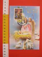 A.09 ITALIA ANNULLO - 1993 TRIVERO BIELLA FESTA DI NATALE PRESEPE PRESEPIO BULLIANA MOSTRA FILATELIA RELIGIOSA MAXIMUM - Natale