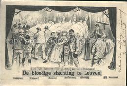 41991266 Leuven De Bloedige Slachting Zeichnung Kuenstlerkarte Leuven - Zonder Classificatie