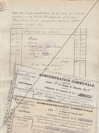 1885 Leval Trahegnies - Binche état Des Frais + 3 Mandats De école Gardienne Beautrix - Documents Historiques