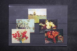 BHOUTAN - Série 5 Valeurs Peintures Florale - L 23129 - Bhoutan