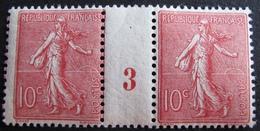 R1934/3 - TYPE SEMEUSE LIGNEE N°129 TIMBRES NEUFS** Millésime 3 - Cote : 80,00 € - Millesimi