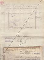 1885 Leval Trahegnies - Binche état Du Charbon Et Bois Société De Charbonnage à Beautrix Institutrice - Documents Historiques