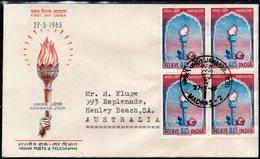 INDIA, 1965 JAWAHAR JYOTI BLOCK 4 FDC - Lettres & Documents