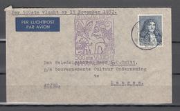 Nederland 1937,brief 500 Ste Vlucht Holland-Indie, 13 November 1937,(C399) - Brieven En Documenten