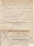 1885 Leval Trahegnies - Binche état Du Charbon Et Bois De L'école Société De Charbonnage à Lebrun Institutrice - Documents Historiques