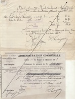 1885 Leval Trahegnies - Binche état De Compte Pour Plafonneur Danisse école Bois Du Roi Et Du Centre - Documents Historiques