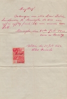 RENINGHE :1927: Kwijtbrief Van/Reçu De ## Alois PAUWELS ##  Aan/à # Remi Debeir, Te ... - Belgique