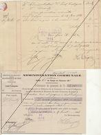 1885 Leval Trahegnies - Binche état De Compte Pour Beautry Zingueur Maison D'école - Documents Historiques