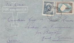 Argentine Lettre Via Aerea Via Condor Cachet SAN ISIDRO B A 1937 Comtesse Château De Fourquevaux Bazièges Haute Garonne - Argentina