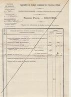 1885 Leval Trahegnies - Binche Thuin Courrier De 4 Pages Compte De L'école Intruction Primaire - Documents Historiques