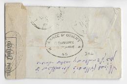 1914/18 - GRECE - ARMEE D'ORIENT - RARE CENSURE Sur ENVELOPPE De SALONIQUE (VOIR AFFRANCHISSEMENT)=> CAILLAR - Grèce