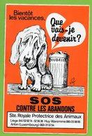 SOCIETE ROYALE PROTECTRICE DES ANIMAUX  SOS CONTRE LES ABANDONS ► AUTOCOLLANT 867 ► - Autocollants