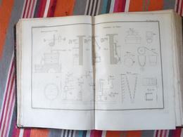 Planche Arts Chimiques 42 1836 Laboratoire De Chimie Moulin Pour Indigo - Planches & Plans Techniques