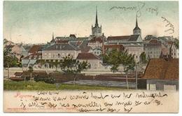 PAYERNE Bahnhof Mit Bahn Dampflokomotive Fabrique Frossard Guggenheim No. 5978 Gel. 1902 N. Luzern - VD Vaud