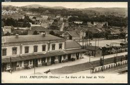 Amplepuis (Rhône) - La Gare Et Le Haut De Ville - X. Goutany édit. N° 3553 - Voir 2 Scans - Amplepuis
