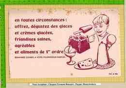 2   BUVARDS : Tu Aimes Les Glaces BRAVO - Cake & Candy