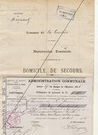 1885 Leval Trahegnies - Binche Pour La Louvière Pour L'indigent Hoyaux - Documents Historiques