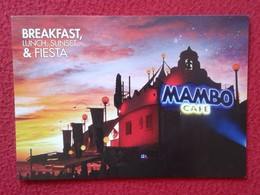 POSTAL POST CARD CARTE POSTALE PUBLICITARIA PUBLICIDAD ADVERTISING IBIZA BALEARIC ISLANDS SPAIN CAFÉ MAMBO BREAKFAST ... - Publicidad