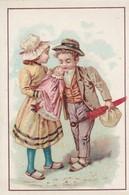 Chromos : Chocolat De L'hermitage De Stérimberg - Tain - Drome : Fille Tenant Une Poupée Et Garçon Une Ombrelle - Chocolate