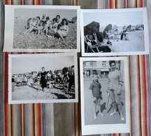 Lot De 4 Photos Plages Maillot De Bain Baigneurs, Baigneuses - Personnes Anonymes