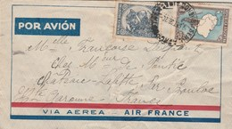 Argentine Lettre Via Aerea AIR FRANCE Buenos Aires 1936 Château Lafitte Bouloc Haute Garonne - Argentina