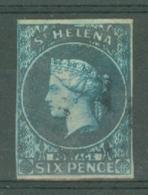 St Helena: 1856   QV    SG1    6d      Used - Isola Di Sant'Elena