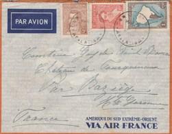 Argentine Lettre  Amérique Du Sud Extrême Orient Via Air France San Isidro  - Comtesse Château Fourquevaux Haute Garonne - Argentina