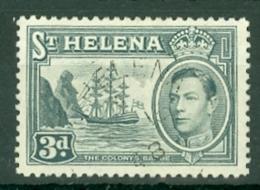 St Helena: 1938/44   KGVI     SG135a    3d   Grey    Used - Isola Di Sant'Elena