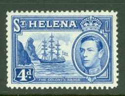 St Helena: 1938/44   KGVI     SG135b    4d       MH - Saint Helena Island