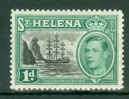 St Helena: 1949   KGVI     SG149    1d       MH - Saint Helena Island