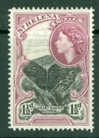 St Helena: 1953/59   QE II - Pictorial     SG155    1½d   Black & Reddish Purple    MNH - Saint Helena Island