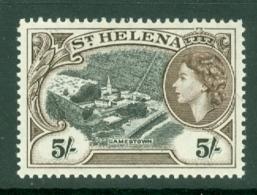 St Helena: 1953/59   QE II - Pictorial     SG164    5/-       MNH - Saint Helena Island