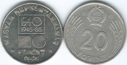 Hungary - 20 Forint - 1983 (KM630) & 1985 - FAO (KM653) - Hongrie