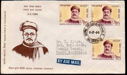 INDIA, 1966 GOPAL KRISHNA GOKHALE FDC - India