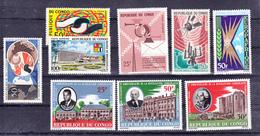 Congo PA  25, à 27 ,36, 39 à 43 1964 1965 1966 Neuf **TB Mnh - Congo - Brazzaville