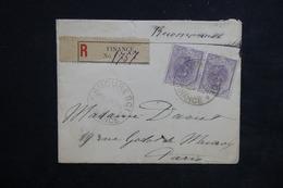 ROUMANIE - Enveloppe En Recommandé De Finance Pour Paris En 1898, Affranchissement Plaisant - L 23137 - 1881-1918: Charles I