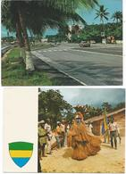 Lot De 2 CPM Du Gabon - Gabon