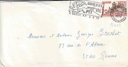 TP N° 2001 Seul Sur Enveloppe De St Brieuc RP - Marcophilie (Lettres)